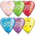 """Сердце 10""""(25см) """"С Любовью"""" пастель ассорти (5-6 дизайнов-1 сторона)"""