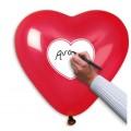 """Сердце 10""""(25см) """"Сердце в Сердце/Напиши Сам"""" пастель КРАСНЫЙ (1 сторона)"""