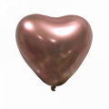 "Сердце 12""(30см) ХРОМ РОЗОВОЕ ЗОЛОТО (Mirror Heart Rose Gold) ТУРЦИЯ"