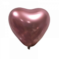 "Сердце 12""(30см) ХРОМ РОЗОВЫЙ (Mirror Heart Pink) ТУРЦИЯ"