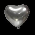 """Сердце 12""""(30см) ХРОМ СЕРЕБРО (Mirror Heart Silver) ТУРЦИЯ"""