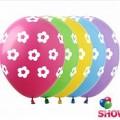 """Цветочек-Горошек 12""""(30см) ассорти пастель (5 сторон)"""