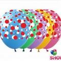 """Цветной Горошек 12""""(30см) ассорти пастель (5 сторон-2 цвета)"""