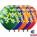 """Цветочки и Бабочки 12""""(30см) ассорти пастель (5 сторон-2 цвета)"""
