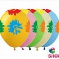 """Цветок Большой 12""""(30см) ассорти пастель (5 сторон-5 цветов)"""