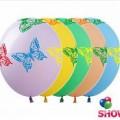 """Бабочки 12""""(30см) ассорти пастель (5 сторон-5 цветов)"""
