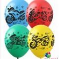 """Мотоциклы 12""""(30см) ассорти пастель (5 сторон)"""