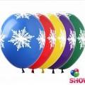"""Снежинки Большие  12""""(30см) ассорти пастель ( 5 сторон )"""
