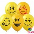 """Смайлики (группа -2)  12""""(30см) желтые (1 сторона)"""