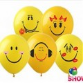 """Смайлики (группа -3)   12""""(30см) желтые (1 сторона )"""