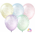 """Happy Birthday"" Pure Crystal 12""(30см) КРИСТАЛЛ ассорти (4 стороны) KALISAN"