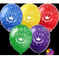 """З Днем народження"" КОРОНА 12""(30см) ПАСТЕЛЬ ассорти (1 сторона)"