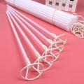 Палочки Большие - Толстые (55см×1см) + Насадки с клипсой-прищепкой. БЕЛЫЕ (для фольги и шаров)
