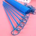 Палочки Большие - Толстые + Насадки с клипсой-прищепкой (55см×1см). СИНИЕ (для фольги и шаров)