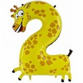 "Цифра ""2""  40""(102см) Жираф (в упаковке)"
