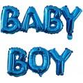 """Буквы """"BABY BOY"""" (Мал) фольга ГОЛУБОЙ (только воздух) Китай"""