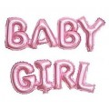 """Буквы """"BABY GIRL"""" (Мал) фольга РОЗОВЫЙ (только воздух) Китай"""