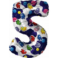 "Цифра ""5"" Agura 32""(80см) AMONG Космонавтики"