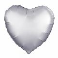 """Сердце 19""""(48см) сатин МИСТИК - ПЛАТИНА (751688) Agura"""