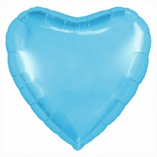 """Сердце 30""""(80см) ГОЛУБОЙ - ХОЛОДНЫЙ (755815) в упаковке, Agura"""