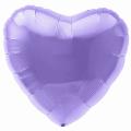 """Сердце-мини 9""""(23см) СИРЕНЕВЫЙ пастель с клапаном (755556) Agura"""