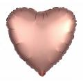"Сердце 19""(48см) сатин МИСТИК - РОЗОВОЕ ЗОЛОТО (751749) Agura"