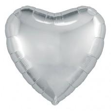 """Сердце 30""""(80см) СЕРЕБРО (755860) в упаковке Agura"""