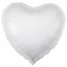 """Сердце 30""""(80см) БЕЛЫЙ (756119) в упаковке, Agura"""