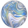 """Сфера 3D 16""""(41см) АГАТ ГОЛУБОЙ (Blue)"""