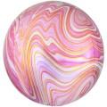 """Сфера 3D 16""""(41см) АГАТ РОЗОВЫЙ (Pink)"""