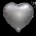 """Сердце 18 """" ( 45см ) САТИН - ГРАФИТОВОЕ"""