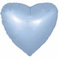 "Сердце 18""(46см) САТИН - ГОЛУБОЕ"