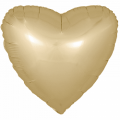 "Сердце 18""(46см) САТИН - ЗОЛОТО"