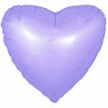 """Сердце 18""""(46см) САТИН - СИРЕНЕВЫЙ"""