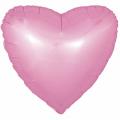 """Сердце 18""""(46см) САТИН - РОЗОВОЕ"""