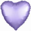 """Сердце 18""""(46см) САТИН - СИРЕНЕВОЕ ЛИЛАК (в упаковке)"""