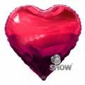 """Сердце 18 """" ( 45см ) ЯГОДНОЕ (ярко красное)"""