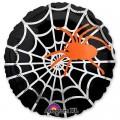 """Круг 18""""(46см) Паук оранжевый на чёрном (в упаковке)"""