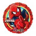 """Круг 18""""(46см) Человек Паук (красный) в упаковке"""
