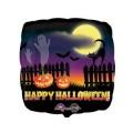 """Квадрат 18""""(46см) Привидения и Тыквы Happy Halloween (в упаковке)"""