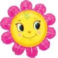 """Цветок - Солнышко (розовые лепестки) 29""""(73см) Фигура Большая (в упаковке)"""