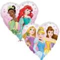 """Сердце 18""""(46см) Принцессы (с двух сторон - разные рисунки)"""