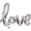 """Буквы """"LOVE"""" фольга СЕРЕБРО (только воздух) Китай"""
