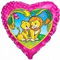 """Сердце 18""""(46см) Влюблённые Львы"""