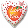 """Сердце 18""""(46см) """"Я Тебя Люблю"""" (Роза Любви)"""