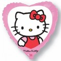 "Сердце 18 "" ( 46см ) Котёнок Китти с бантиком"