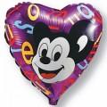 """Сердце 18""""(46см) Микки-Маус"""