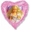 """Сердце 18""""(46см) Сказочная Синди (розовый)"""