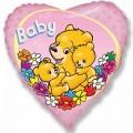 "Сердце 18""(46см) Baby Мишки (розовый)"
