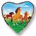 """Сердце 18""""(46см) Кони"""